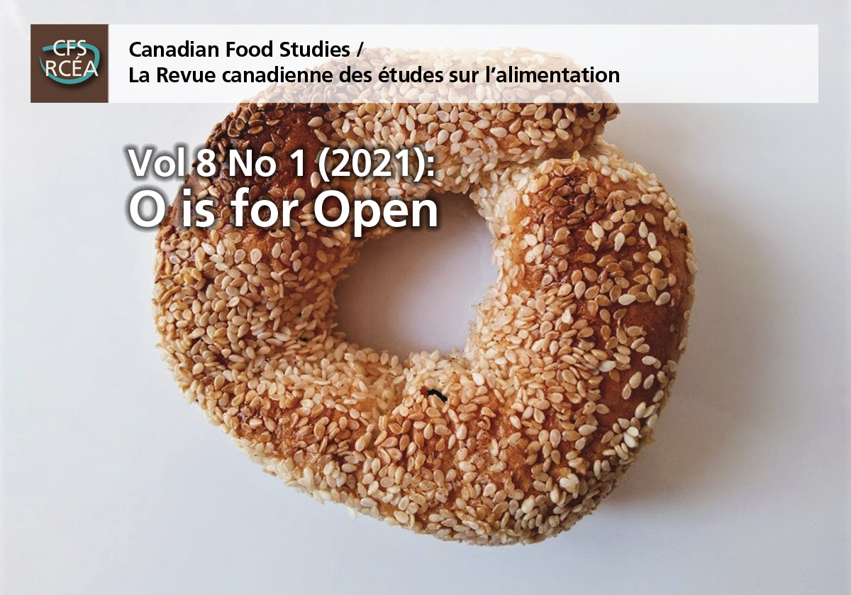 Cover image for Volume 7 Issue 2 of Canadian Food Studies, showing a Gete-Okosomin squash.